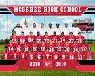 McGehee Owls Boys Varsity Football Fall 18-19 team photo.