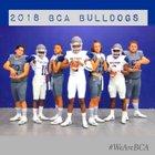 Baytown Christian Bulldogs Boys Varsity Football Fall 18-19 team photo.