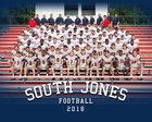 South Jones Braves Boys Varsity Football Fall 18-19 team photo.