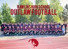 Rawlins Outlaws Boys Varsity Football Fall 18-19 team photo.