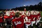 St. Paul's Big Red Boys Varsity Football Fall 18-19 team photo.