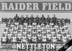 Nettleton Raiders Boys Varsity Football Fall 18-19 team photo.