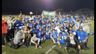 Orange Glen Patriots Boys Varsity Football Fall 18-19 team photo.