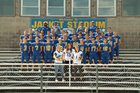 Mountain View Yellowjackets Boys Varsity Football Fall 18-19 team photo.