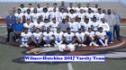 Wilmer-Hutchins Eagles Boys Varsity Football Fall 18-19 team photo.