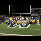 Valley View Cougars Boys Varsity Football Fall 18-19 team photo.