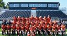 Newport Greyhounds Boys Varsity Football Fall 18-19 team photo.