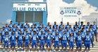 Sunnyside Blue Devils Boys Varsity Football Fall 18-19 team photo.