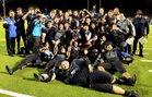 Agoura Chargers Boys Varsity Football Fall 18-19 team photo.