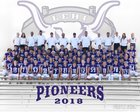 Lehi Pioneers Boys Varsity Football Fall 18-19 team photo.