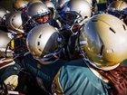 Indianapolis Crispus Attucks Tigers Boys Varsity Football Fall 18-19 team photo.