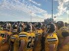 Monroe Central Golden Bears Boys Varsity Football Fall 18-19 team photo.