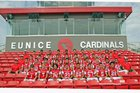 Eunice Cardinals Boys Varsity Football Fall 18-19 team photo.