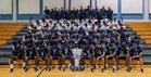 Columbus Explorers Boys Varsity Football Fall 18-19 team photo.