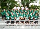 Trinity Shamrocks Boys Varsity Football Fall 18-19 team photo.