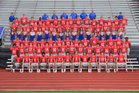 Jackson Prep Patriots Boys Varsity Football Fall 18-19 team photo.