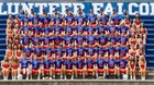 Volunteer Falcons Boys Varsity Football Fall 18-19 team photo.
