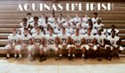 Aquinas Institute Little Irish Boys Varsity Football Fall 18-19 team photo.
