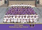 Hattiesburg Tigers Boys Varsity Football Fall 18-19 team photo.