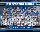 Eastern Eagles Boys Varsity Football Fall 18-19 team photo.