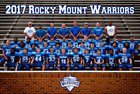 Rocky Mount HomeSchool Warriors Boys Varsity Football Fall 18-19 team photo.