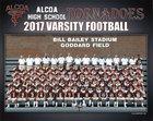Alcoa Tornadoes Boys Varsity Football Fall 18-19 team photo.