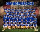Serrano Diamondbacks Boys Varsity Football Fall 18-19 team photo.