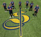 Crean Lutheran Saints Boys Varsity Football Fall 18-19 team photo.