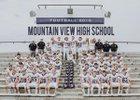Mountain View Buffaloes Boys Varsity Football Fall 18-19 team photo.