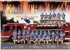North Judson-San Pierre Bluejays Boys Varsity Football Fall 18-19 team photo.