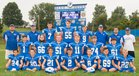 Beallsville Blue Devils Boys Varsity Football Fall 18-19 team photo.