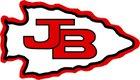 Burroughs Indians Boys Varsity Football Fall 18-19 team photo.