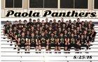 Paola Panthers Boys Varsity Football Fall 18-19 team photo.