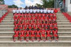 Manatee Hurricanes Boys Varsity Football Fall 18-19 team photo.