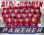 Alba-Golden Panthers Boys Varsity Football Fall 18-19 team photo.