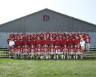 Dunham Tigers Boys Varsity Football Fall 18-19 team photo.