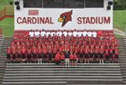 George Rogers Clark Cardinals Boys Varsity Football Fall 18-19 team photo.