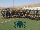 Damonte Ranch Mustangs Boys Varsity Football Fall 18-19 team photo.