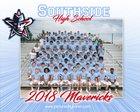 Southside Mavericks Boys Varsity Football Fall 18-19 team photo.