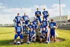 Carroll Cougars Boys Varsity Football Fall 18-19 team photo.