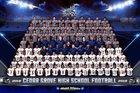 Cedar Grove Saints Boys Varsity Football Fall 18-19 team photo.