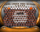 Fern Creek Tigers Boys Varsity Football Fall 18-19 team photo.