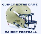 Quincy Notre Dame Raiders Boys Varsity Football Fall 18-19 team photo.