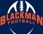 Blackman Blaze Boys Varsity Football Fall 18-19 team photo.