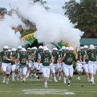 Briarcrest Christian Saints Boys Varsity Football Fall 18-19 team photo.