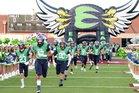 V.R. Eaton Eagles Boys Varsity Football Fall 18-19 team photo.