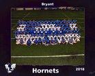 Bryant Hornets Boys Varsity Football Fall 18-19 team photo.