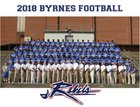 Byrnes Rebels Boys Varsity Football Fall 18-19 team photo.
