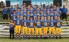 Aurora Central Catholic Chargers Boys Varsity Football Fall 18-19 team photo.