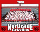 Northside Grizzlies Boys Varsity Football Fall 18-19 team photo.
